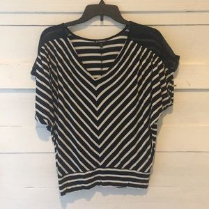 Black and White stripe Express top